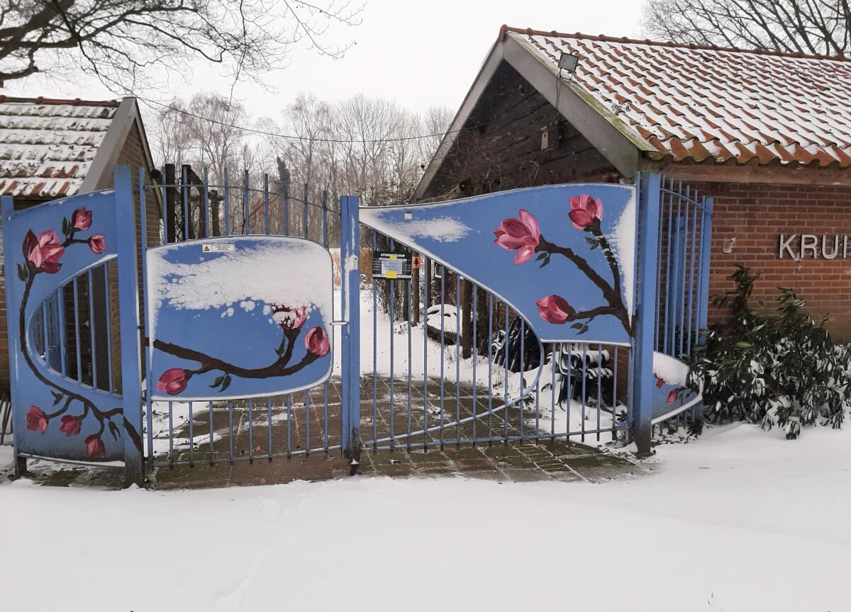 Kijk mee achter de poort, winterse pracht in de Kruidenhof